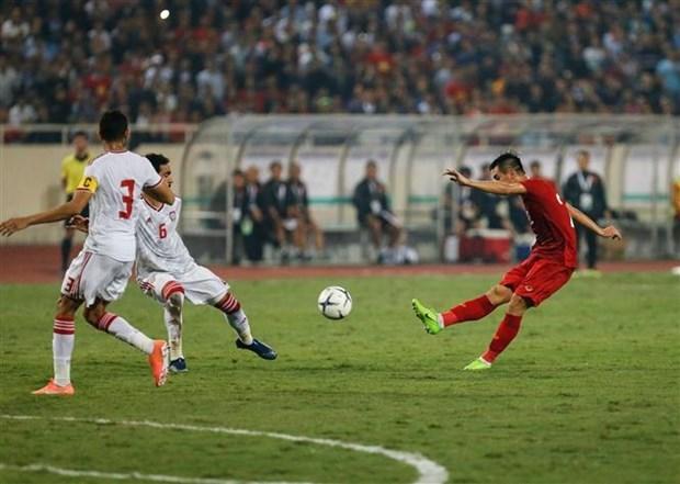 Vietnam vence a EAU y se aupa al primer puesto de su grupo en eliminatoria para Mundial 2020 hinh anh 1