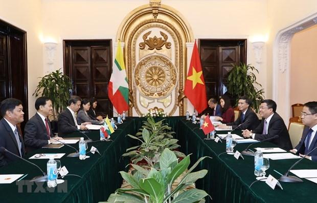 Realizan Vietnam y Myanmar la octava consulta politica hinh anh 1