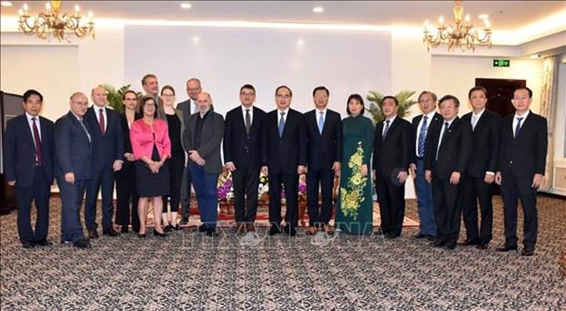 Ciudad Ho Chi Minh y estado aleman de Hessen refuerzan relaciones en diversos sectores hinh anh 1
