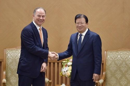 Respalda vicepremier de Vietnam cooperacion energetica con empresa estadounidense hinh anh 1