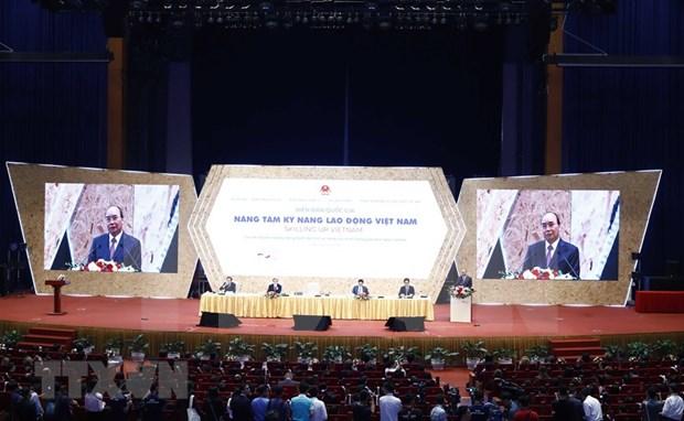 Celebran en Vietnam foro nacional sobre capacidad de fuerzas laborales hinh anh 1