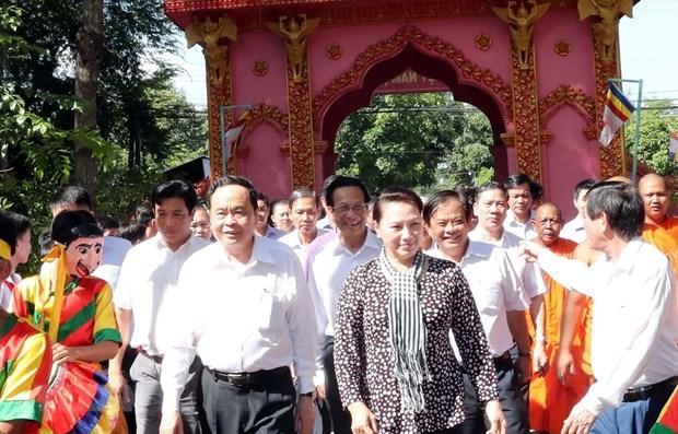 Participa maxima legisladora de Vietnam en Festival de Gran Unidad Nacional hinh anh 1