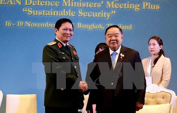 Sostiene ministro de Defensa de Vietnam reuniones al margen de ADMM hinh anh 1