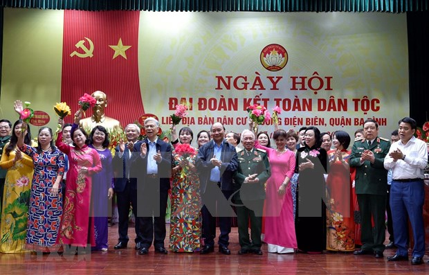 Asiste premier de Vietnam a festival de gran unidad nacional en Hanoi hinh anh 1