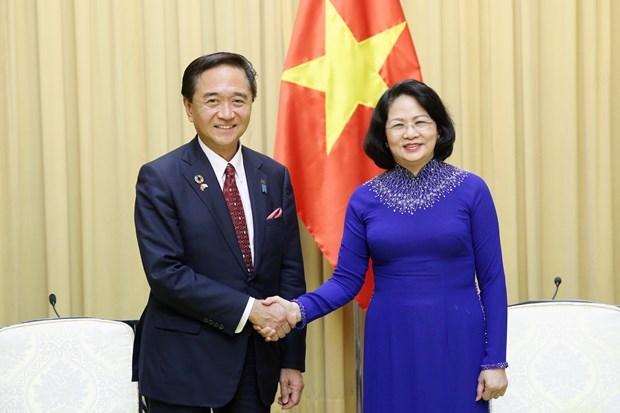 Aboga vicepresidenta de Vietnam por incrementar la cooperacion con prefectura japonesa hinh anh 1