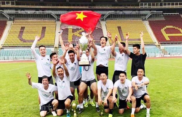 Debutan club y centro de formacion de futbolistas vietnamitas en la Republica Checa hinh anh 1