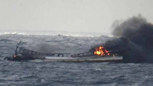 Acelera Corea del Sur rescate por incendio de barco con vietnamitas a bordo hinh anh 1