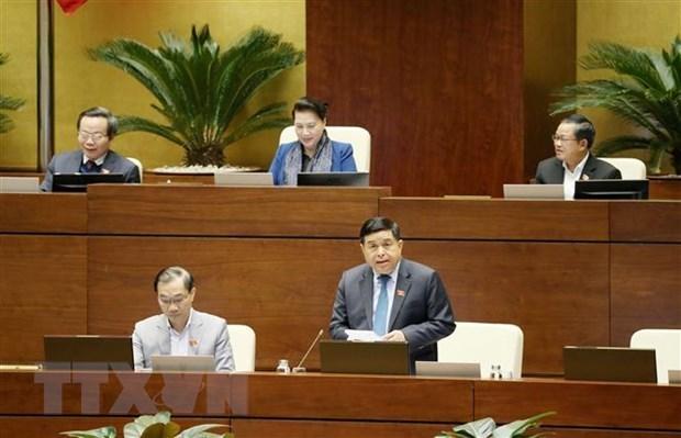 Centra Parlamento de Vietnam debates en proyecto de Ley de Inversion hinh anh 1