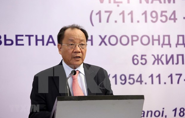 Conmemoran en Hanoi aniversario 65 del establecimiento de relaciones Vietnam-Mongolia hinh anh 1