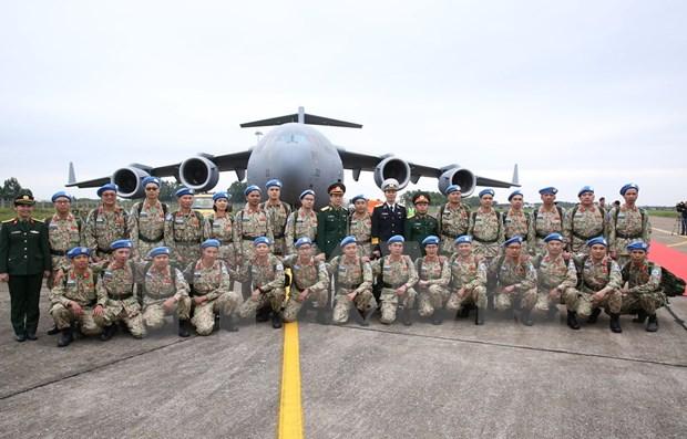 Continua Vietnam envio de oficiales a misiones de paz en Sudan del Sur hinh anh 1