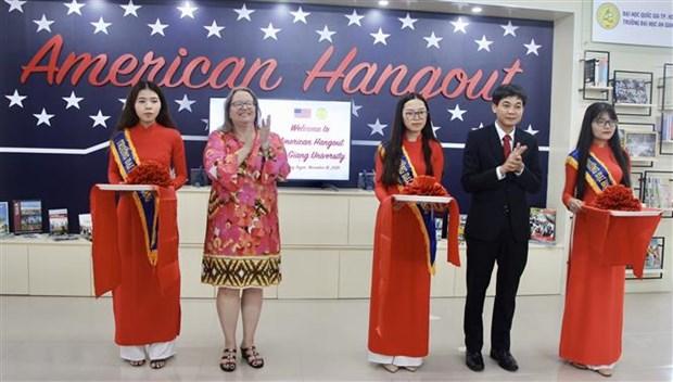 Inauguran proyecto estadounidense de aprendizaje interactivo en provincia vietnamita de An Giang hinh anh 1