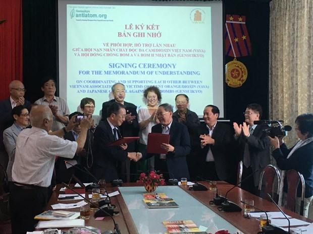 Asociaciones de Vietnam y Japon entablan cooperacion en mitigacion de secuelas de guerra hinh anh 1