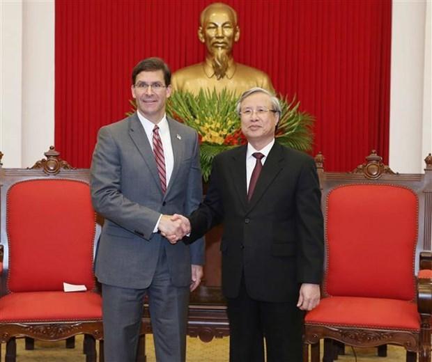 Vietnam y Estados Unidos por incrementar respaldo mutuo en misiones internacionales hinh anh 1