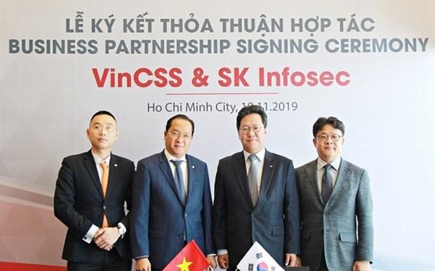 Coopera Vingroup con compania surcoreana en el campo de ciberseguridad hinh anh 1