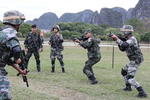 Participan cientos de soldados de la ASEAN ampliada en simulacro antiterrorista hinh anh 1