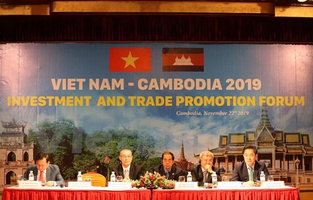 Nutrida participacion en Foro de Promocion de Comercio Vietnam - Camboya 2019 hinh anh 1