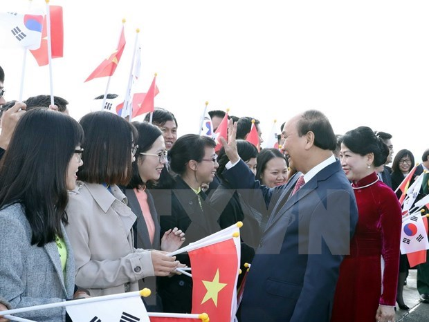 Premier vietnamita llega a Busan para la cumbre ASEAN- Corea del Sur hinh anh 1