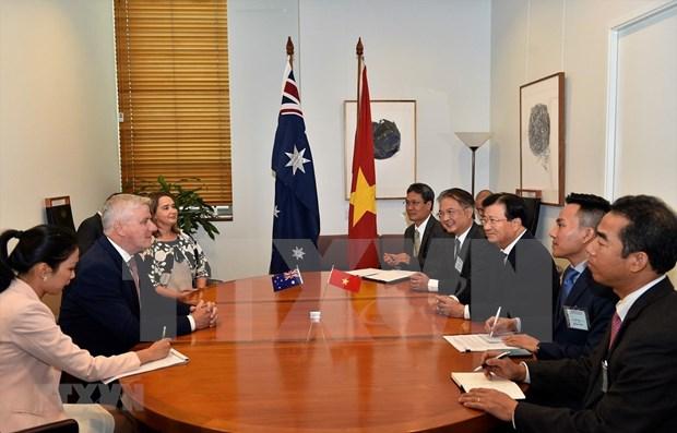 Reitera primer ministro de Australia compromiso con relaciones estrategicas con Vietnam hinh anh 1