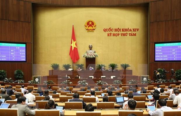 Parlamento de Vietnam continua debates sobre proyectos legales hinh anh 1