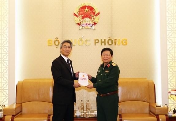 Aprecia Vietnam en cooperacion militar con Japon hinh anh 1