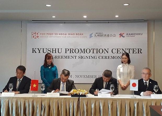 Estableceran en Vietnam centro de promocion comercial de region japonesa de Kyushu hinh anh 1