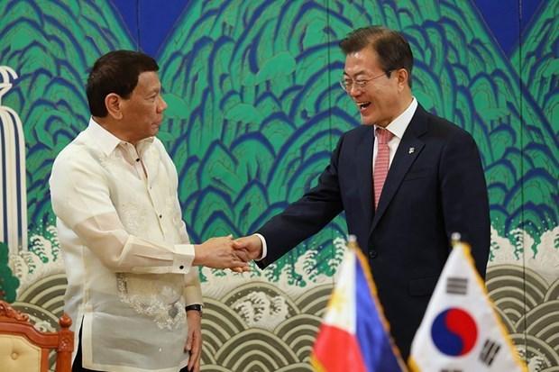 Acuerdan Corea del Sur y Filipinas impulsar libre comercio hinh anh 1