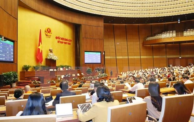 Parlamento de Vietnam prosigue debates y votaciones para aprobar leyes hinh anh 1