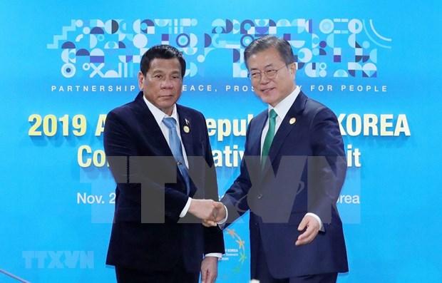 Corea del Sur intensifica lazos en defensa con Filipinas y Singapur hinh anh 1