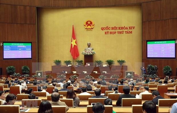 Parlamento de Vietnam refrenda importantes proyectos legales hinh anh 1