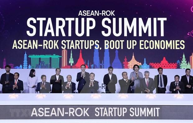 Participa Premier de Vietnam en Cumbre de start-up ASEAN- Corea del Sur hinh anh 1