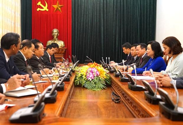 Robustecen relaciones Hanoi- Vientiane hinh anh 1