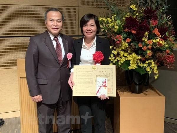 Honran en Japon a cientifica vietnamita por descubrimento sobre diarrea epidemica porcina hinh anh 1