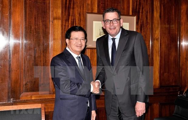 Promueven cooperacion entre Vietnam y estado australiano de Victoria hinh anh 1