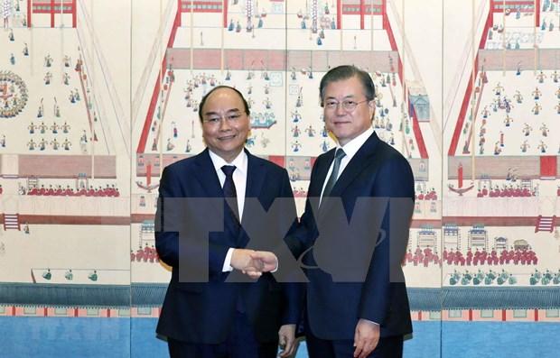 Acuerdan Vietnam y Corea del Sur elevar intercambio comercial a 100 mil millones de dolares hinh anh 1