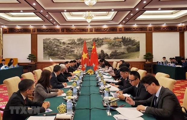 Realizan Vietnam y China negociaciones gubernamentales sobre asuntos fronterizos y territoriales hinh anh 1