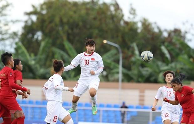 SEA Games 30: Vietnam fulmina a Indonesia y clasifica a semifinales del futbol femenino hinh anh 1