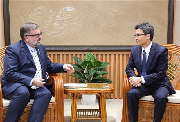 Viceprimer ministro de Vietnam recibe a funcionario de ONU sobre VIH/SIDA hinh anh 1