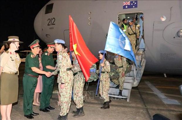 Ultimos miembros del primer hospital de campana vietnamita regresan al pais de Sudan del Sur hinh anh 1