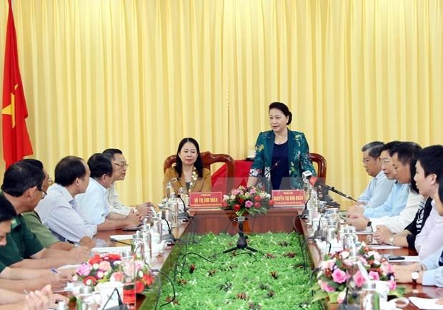 Realiza maxima legisladora vietnamita visita de trabajo a provincia de An Giang hinh anh 1