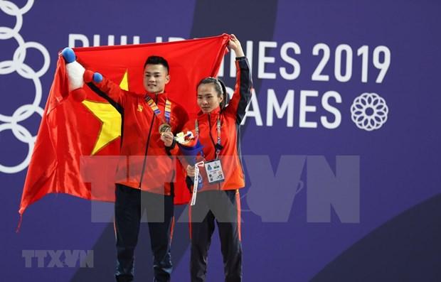 Vietnam ocupa temporalmente segundo puesto en juegos sudesteasiaticos hinh anh 1