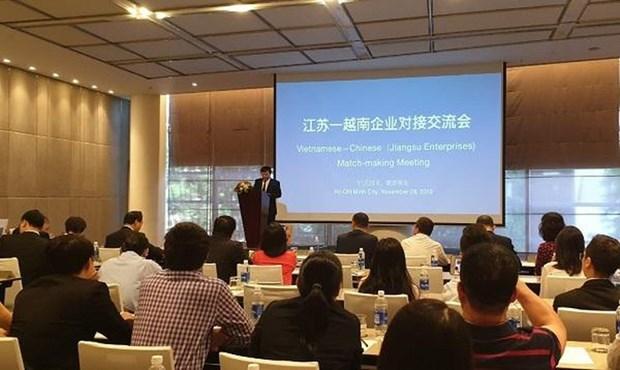 Impulsan intercambio comercial entre Ciudad Ho Chi Minh y provincia china de Jiangsu hinh anh 1