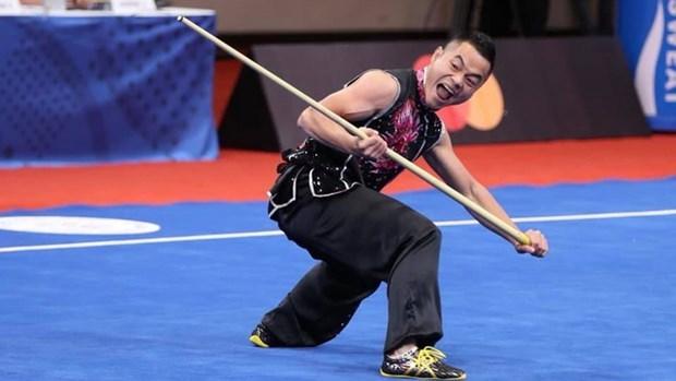 Aporta el Wushu la primera medalla para Vietnam en segunda jornada de SEA Games 30 hinh anh 1
