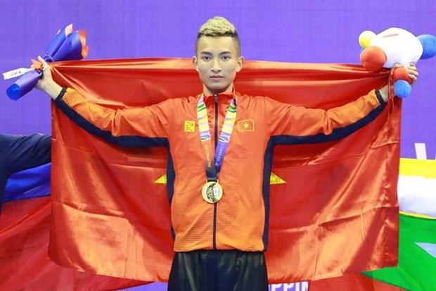 Triunfa Vietnam en lucha con palos en los XXX Juegos Deportivos del Sudeste Asiatico hinh anh 1