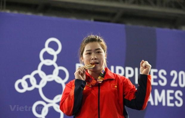 Establece halterofila vietnamita nuevo record para los SEA Games hinh anh 1