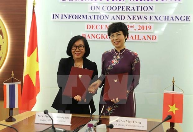 Impulsan la VNA y entidad de Tailandia cooperacion en produccion de informaciones para el exterior hinh anh 1