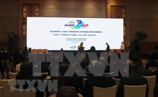 Participa Vietnam en Congreso de Asociacion Internacional de Alcaldes Francofonos hinh anh 1