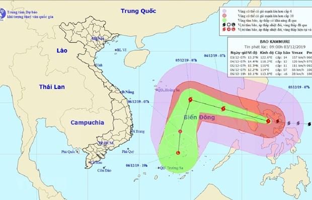Orientan en Vietnam medidas preventivas ante la llegada del tifon Kammuri hinh anh 1