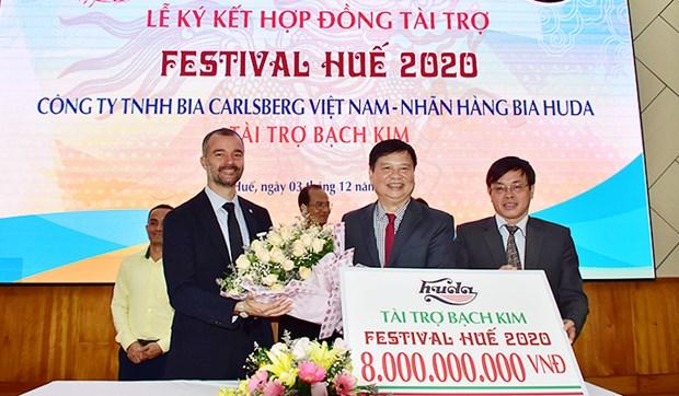 Carsberg Vietnam se convierte en patrocinador platino del Festival Hue 2020 hinh anh 1