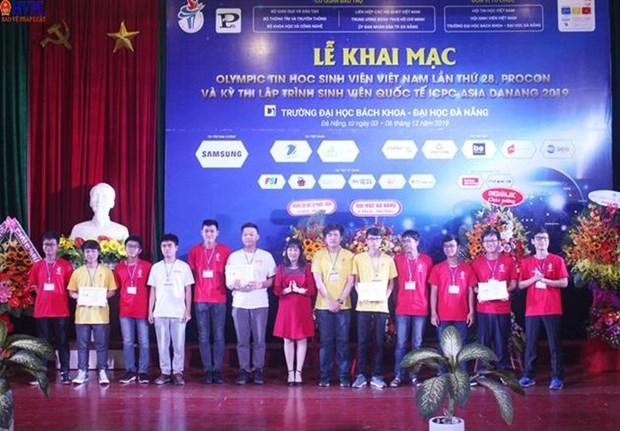 Nutrida participacion en Olimpiada de Computacion y Concurso Internacional de Programacion en Vietnam hinh anh 1