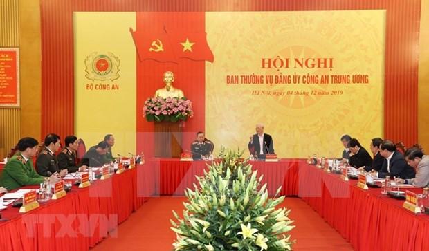 Destaca maximo dirigente de Vietnam contribuciones de la Policia Popular Nacional hinh anh 1
